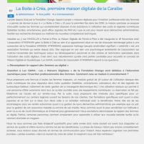 Article de guadeloupe-numerique.fr / juillet 2017